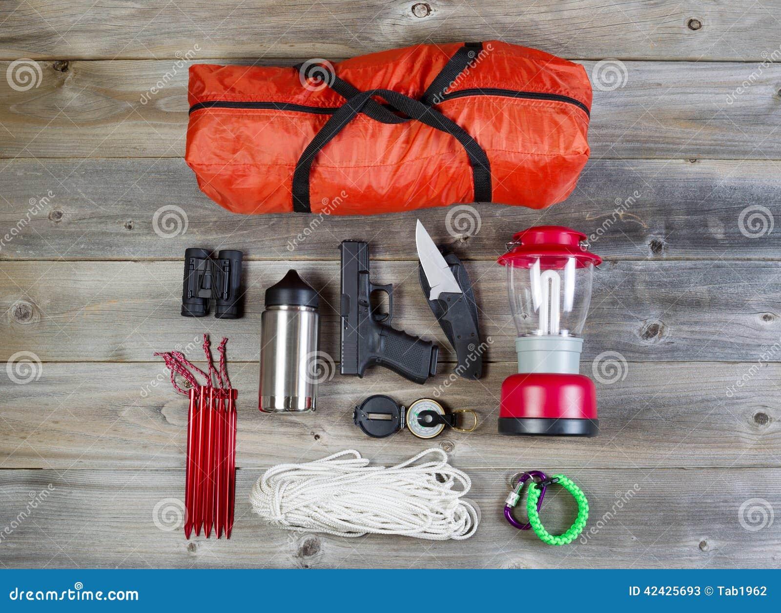 Equipo de acampada y accesorios personales de la protección