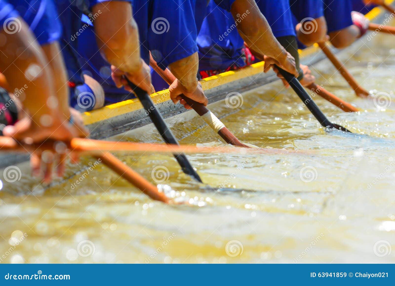 Equipo de barco de rowing