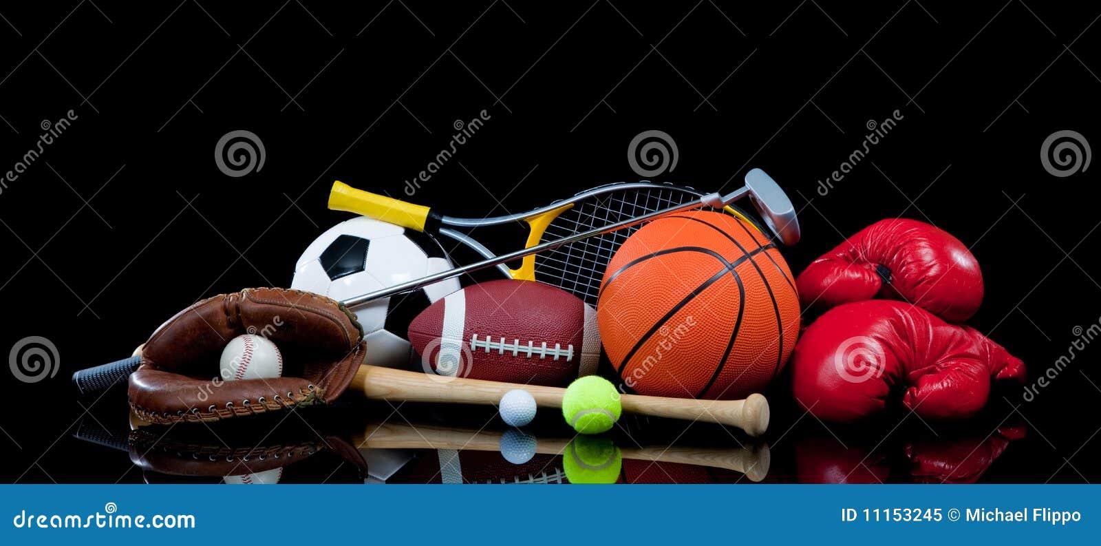 Equipo de deportes clasificado en negro