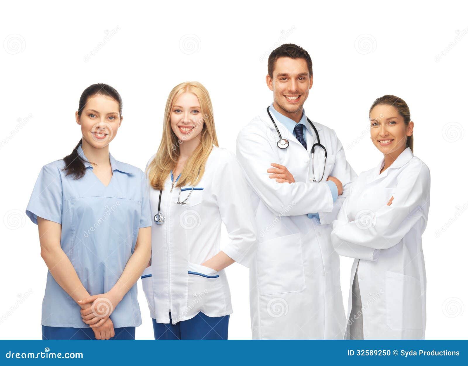 equipo de los jóvenes o grupo de doctores foto de archivo - imagen