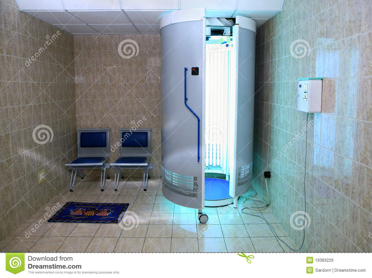 equipped solarium salon room royalty free stock images