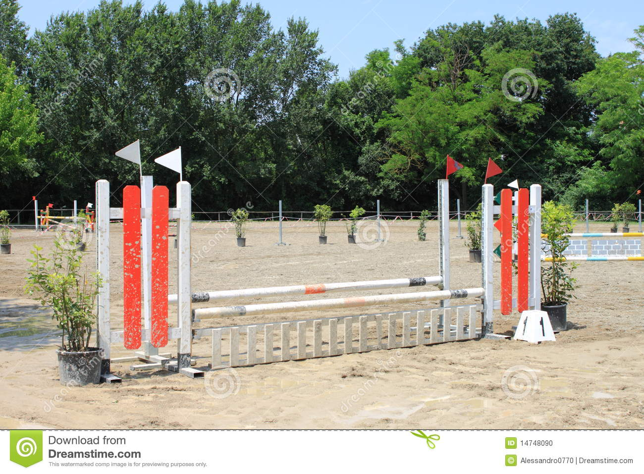 Download Equitation obstacle stock photo. Image of meadow, jumpers - 14748090
