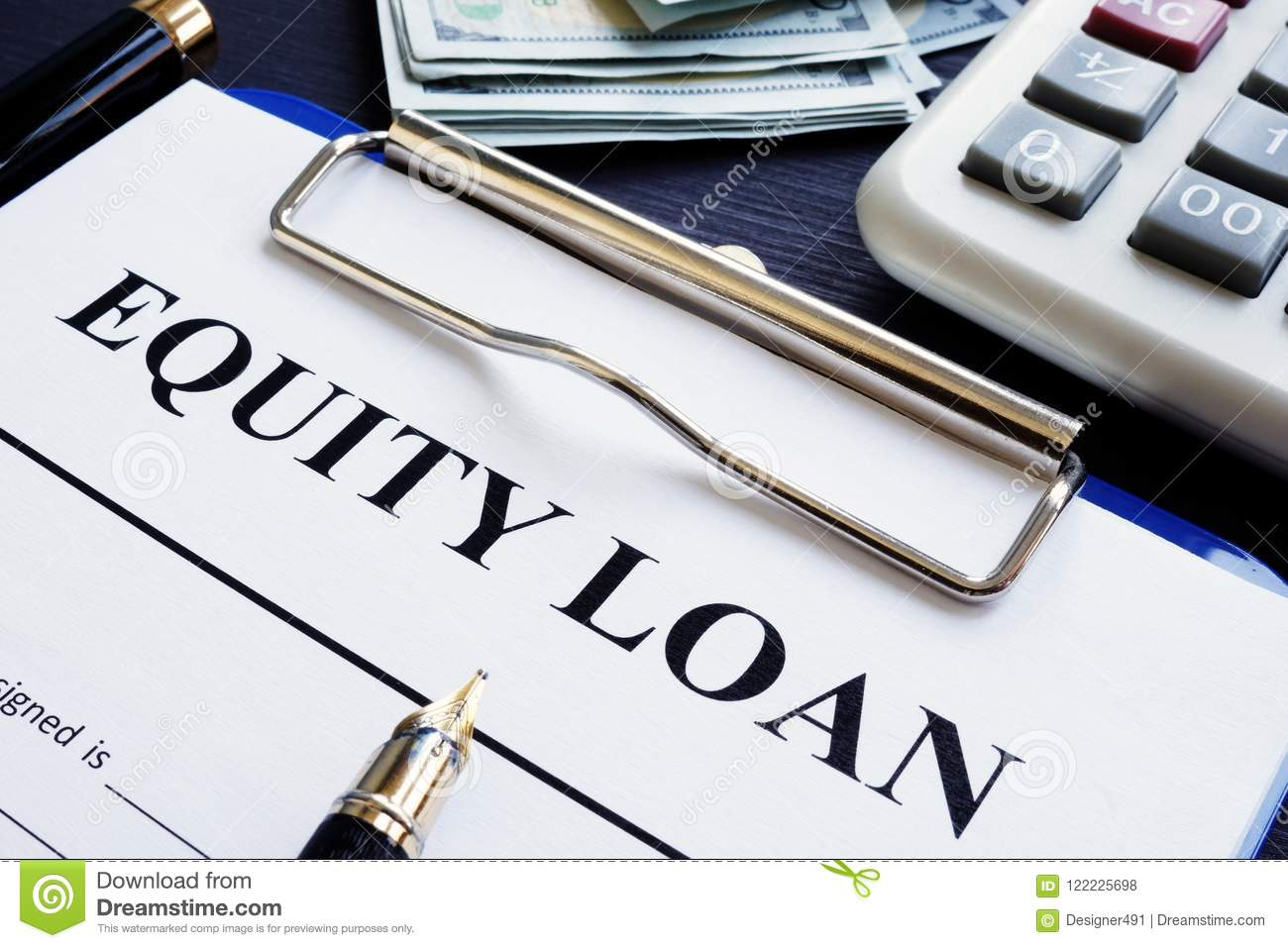Equity loan application and calculator.