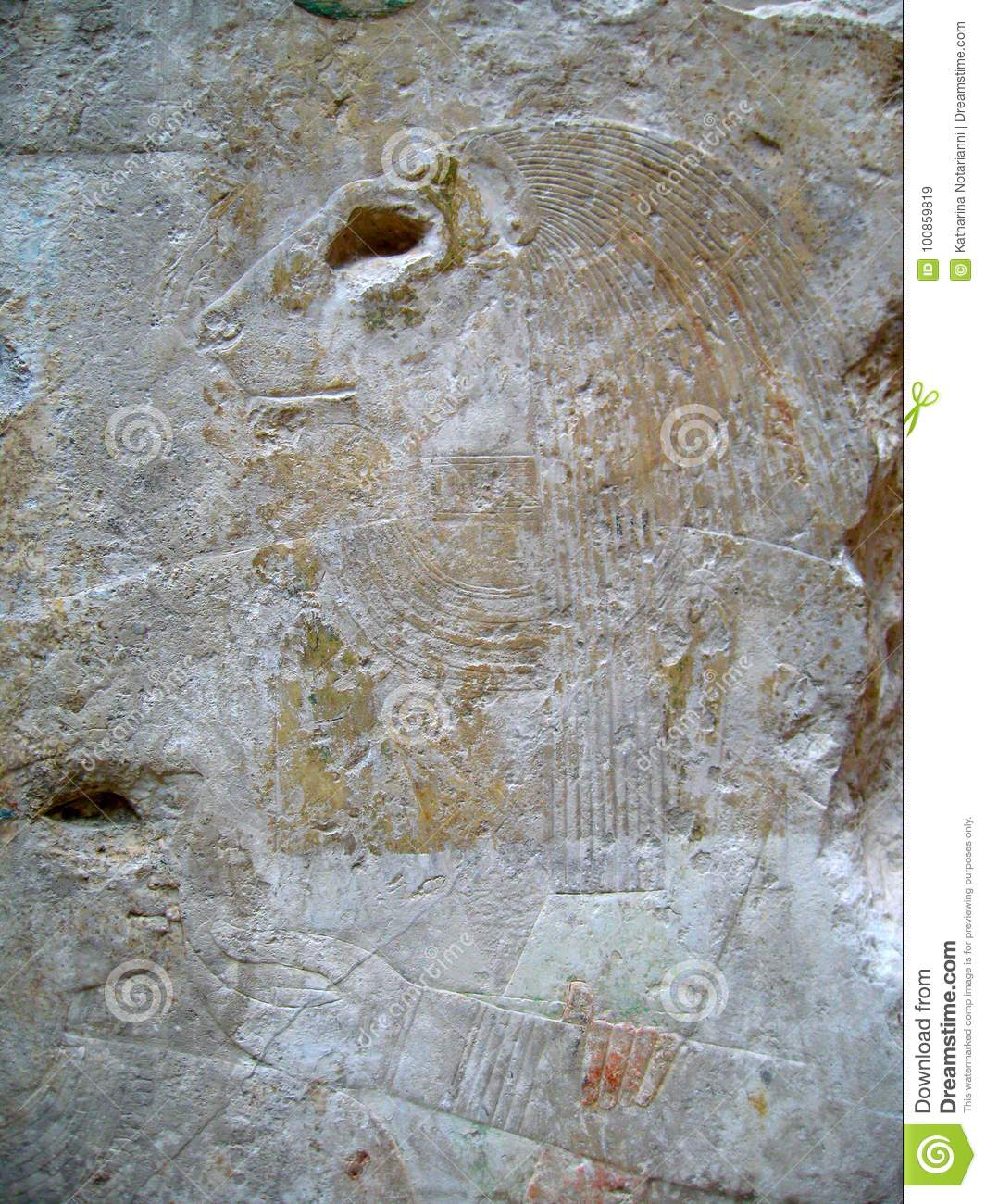 Ancient egyptian stone carvings editorial stock image