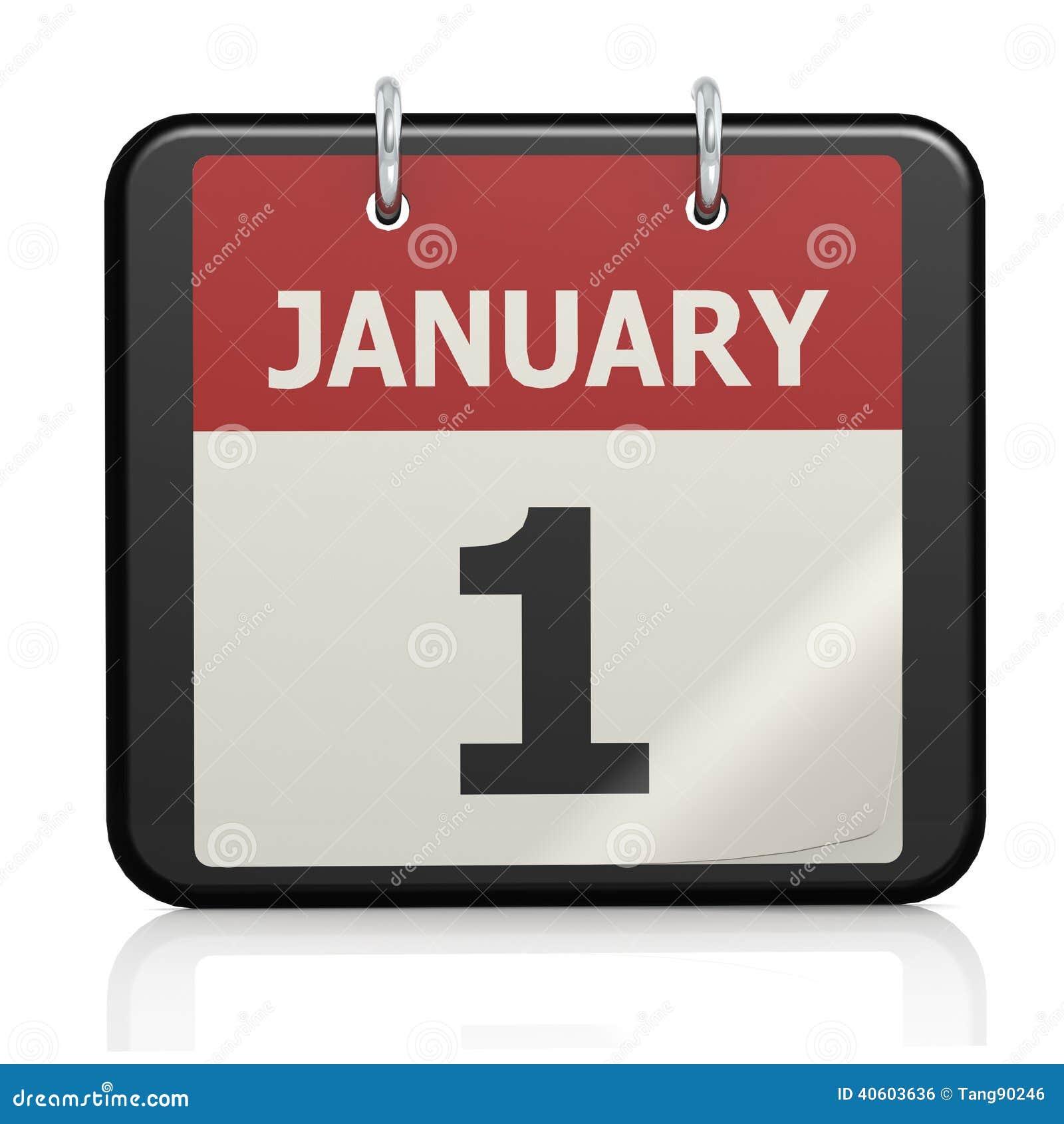 1er janvier calendrier de jour de l 39 an illustration stock for Table jour de l an