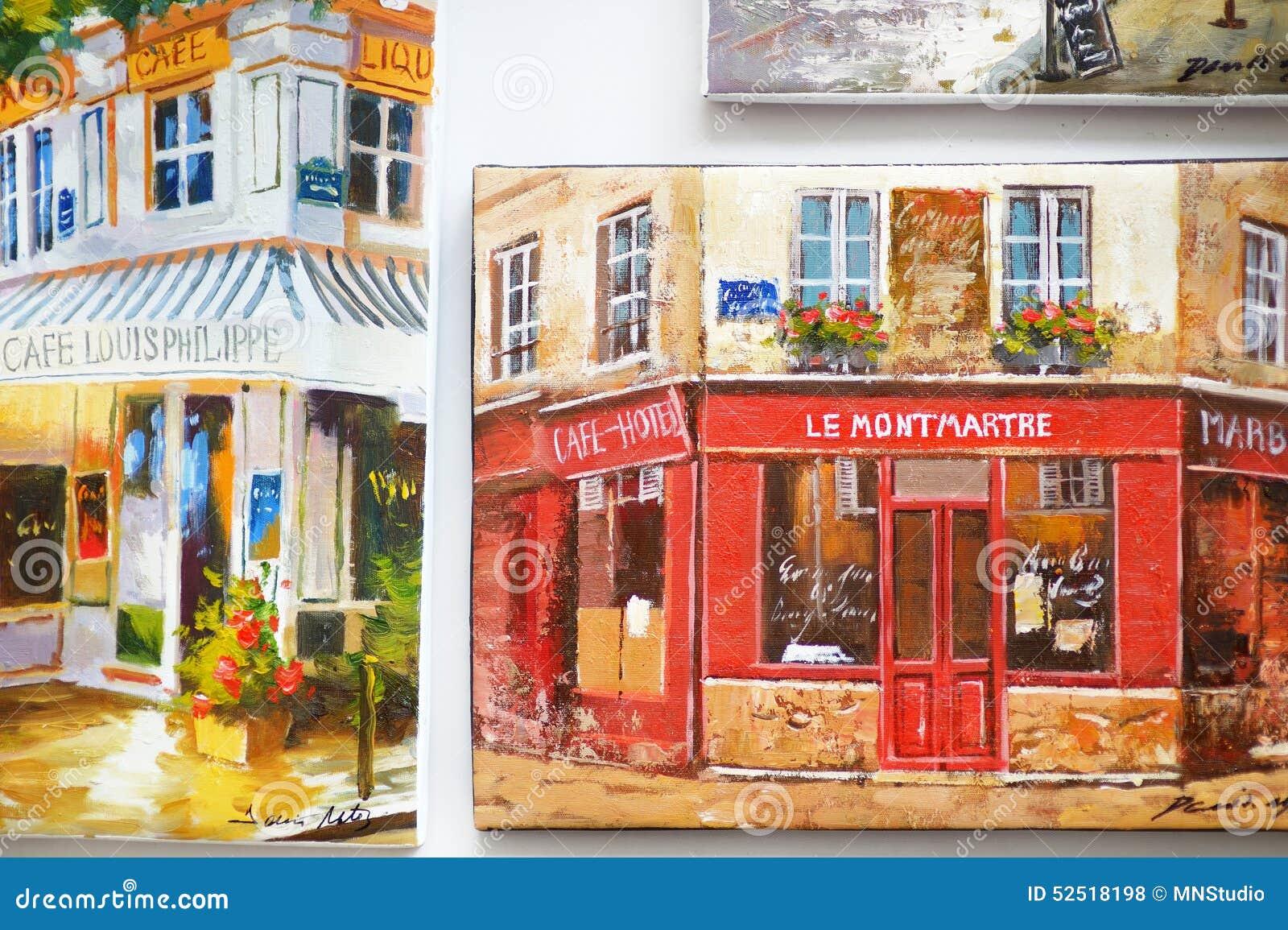 1er mars 2015 paris peintures la boutique de souvenirs photo stock ditorial image 52518198. Black Bedroom Furniture Sets. Home Design Ideas