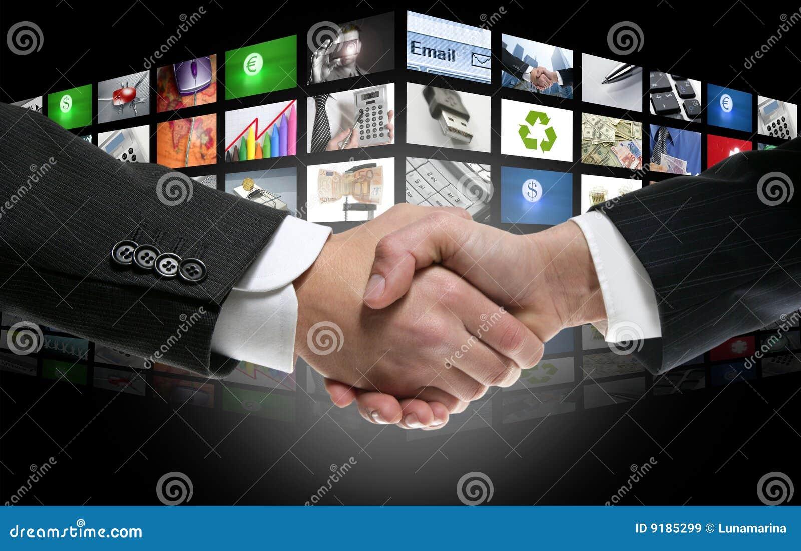 Era digitale futuristica TV e priorità bassa dei canali