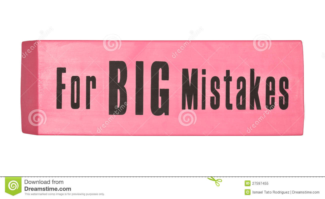 Eraser For Big Mistakes Royalty Free Stock Photo Image
