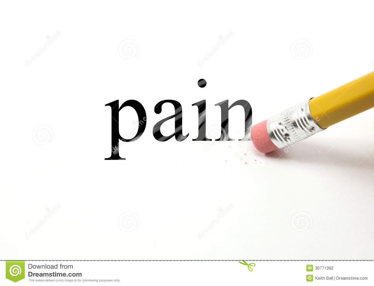 Erasing Pain Stock Photography Image 30771392 Written In Your The