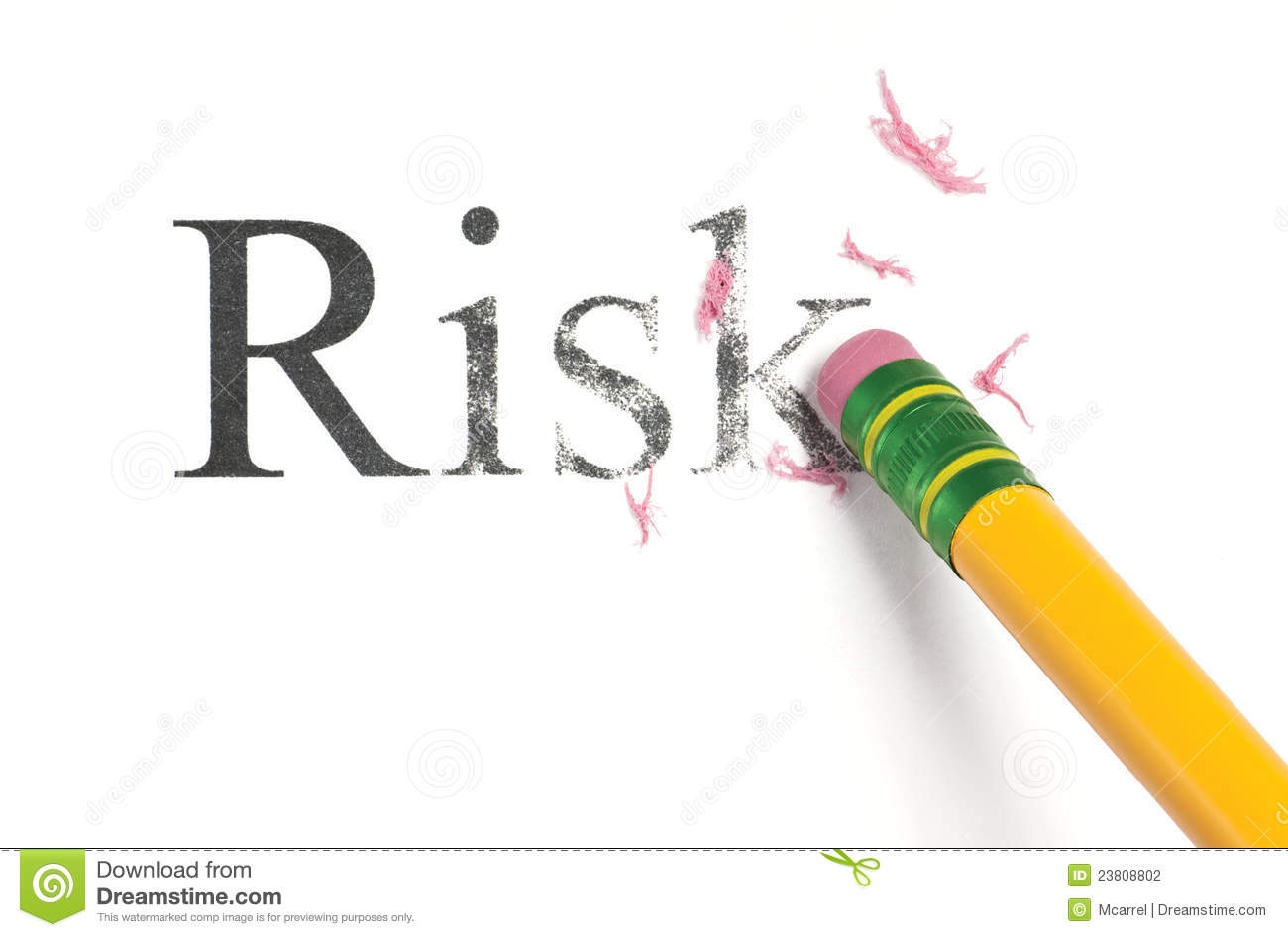 Close up of a yellow pencil erasing the word, 'Risk.' Isolated on ... Cyber Bullying Clipart