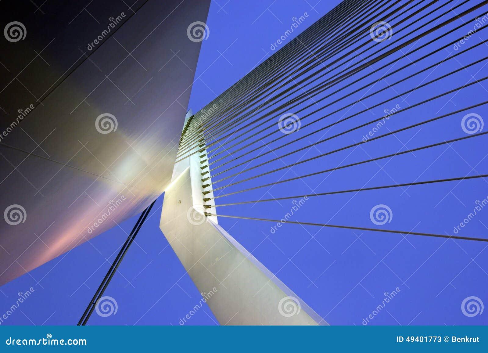 Download Erasmus Bridge Rotterdam, Südholland, Die Niederlande Stockbild - Bild von modern, reise: 49401773