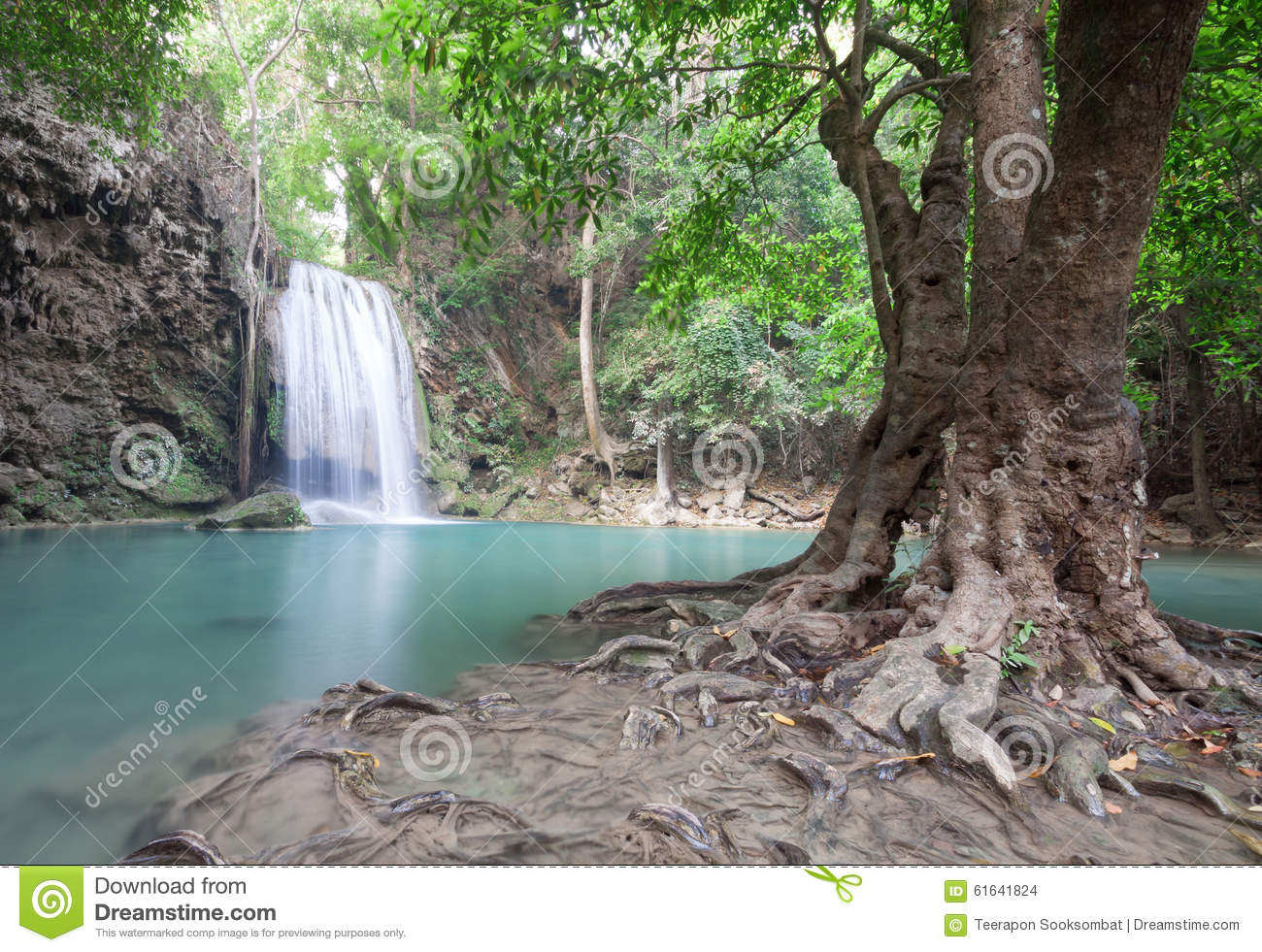 Erawan Waterfall Stock Photo - Image: 61641824