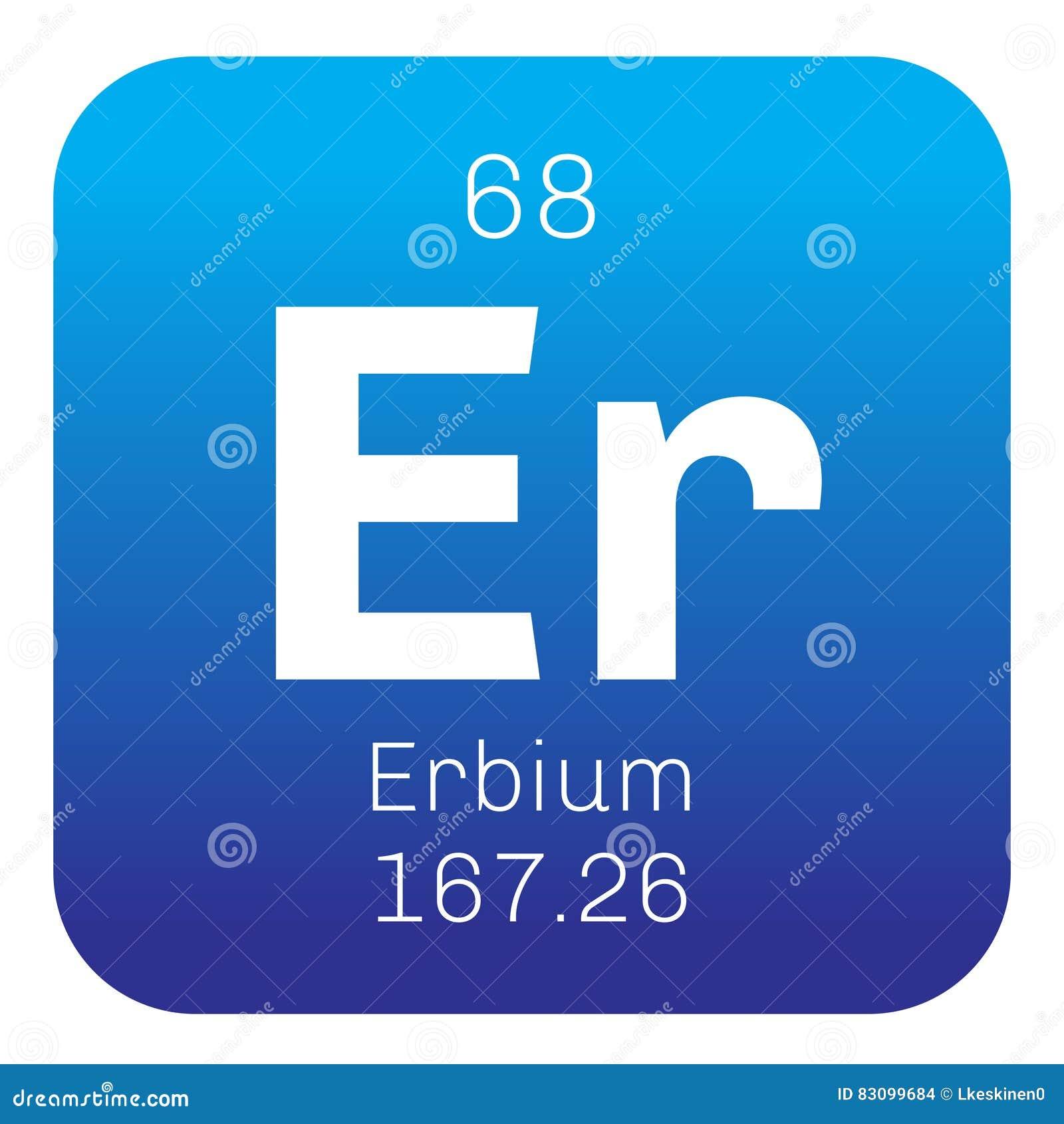 Periodic table element erbium icon stock illustration image erbium chemical element stock images gamestrikefo Image collections