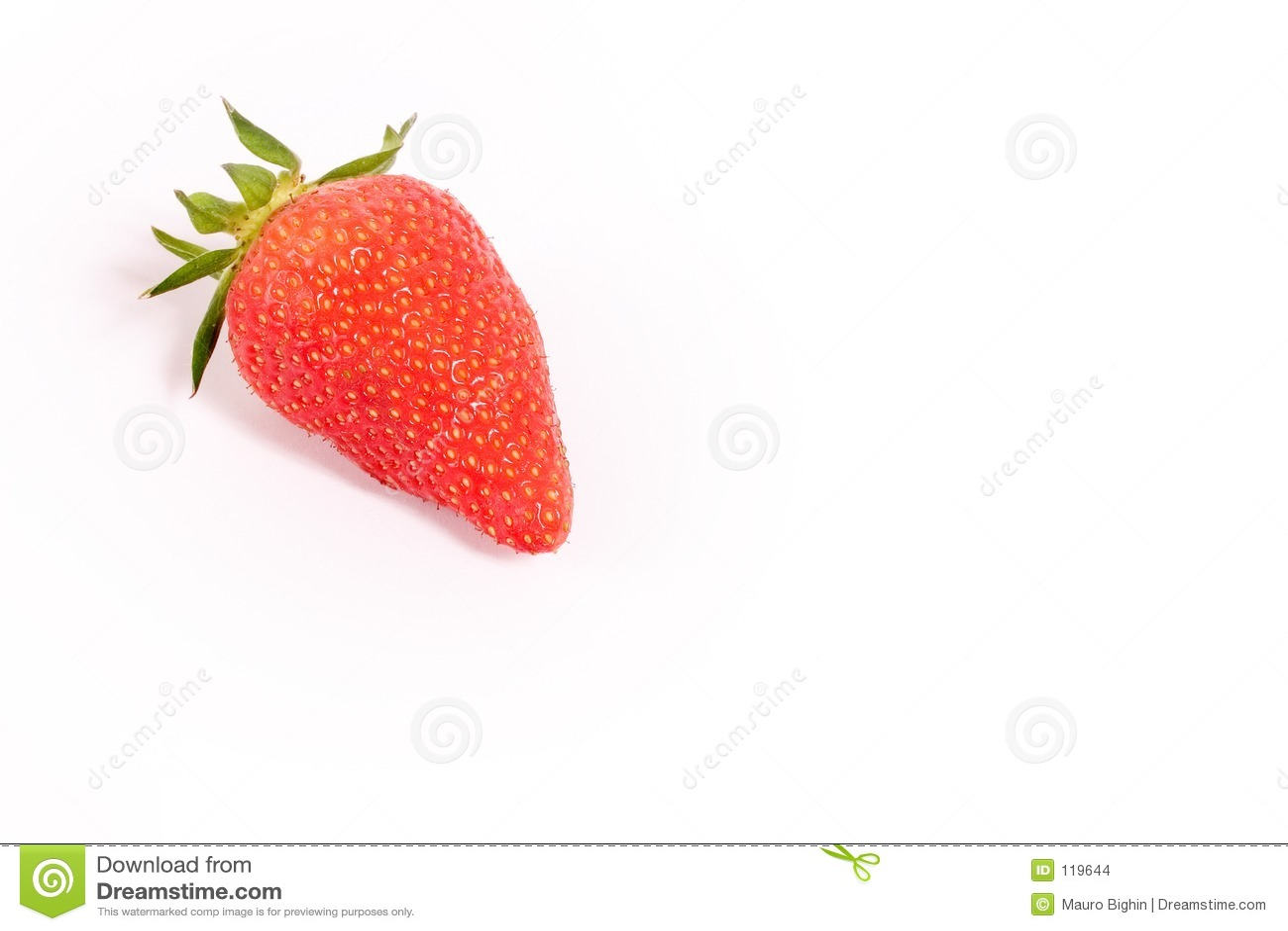 Erdbeere auf Weiß