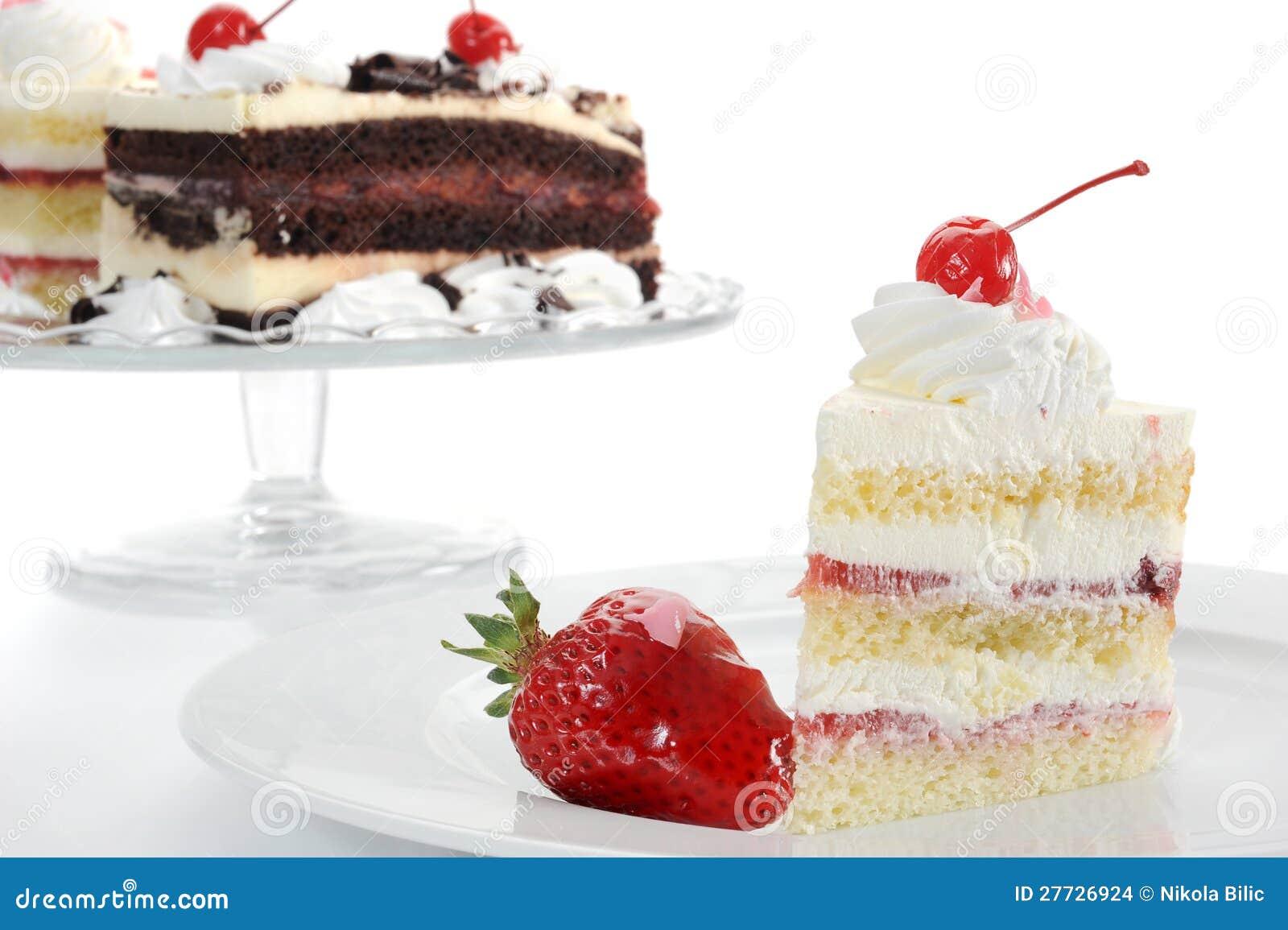 Erdbeere-Kuchen-Nahaufnahme