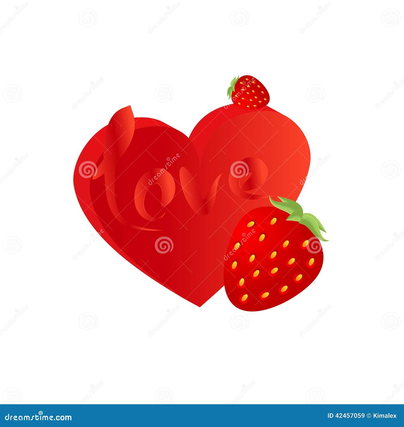 Erdbeere und Herz