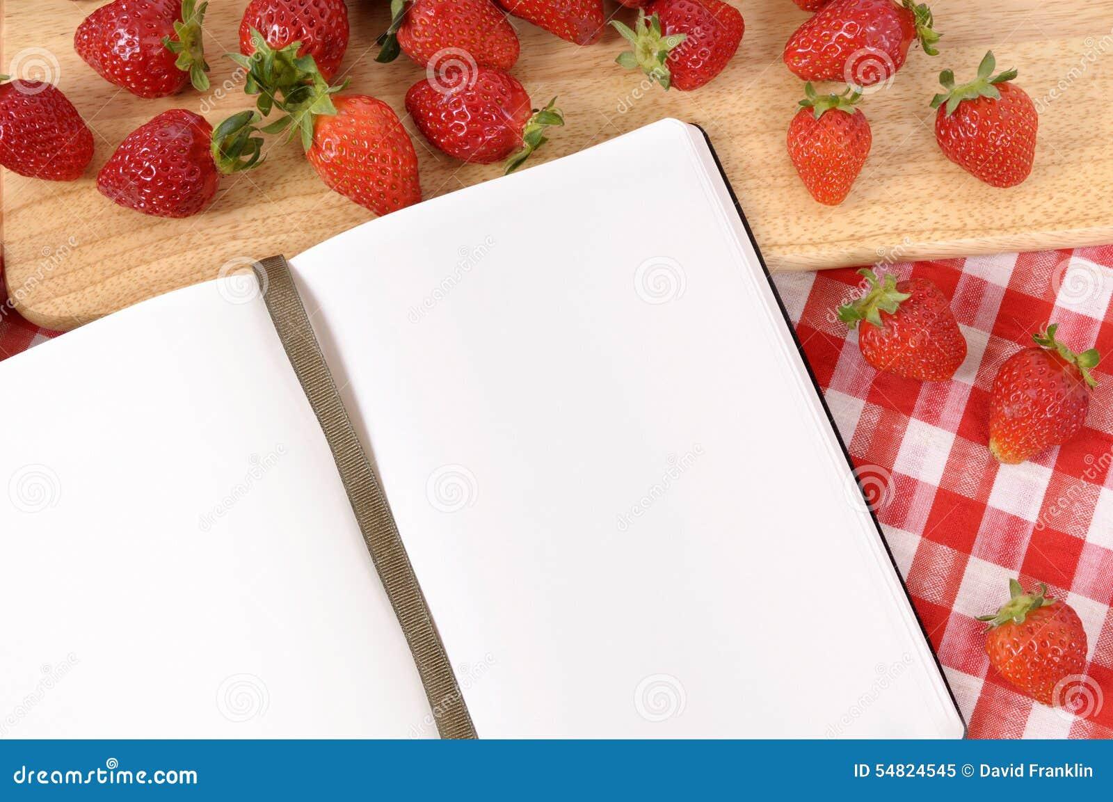 erdbeeren hintergrund rezeptbuch kochbuch kopienraum stockbild bild von leerzeichen. Black Bedroom Furniture Sets. Home Design Ideas