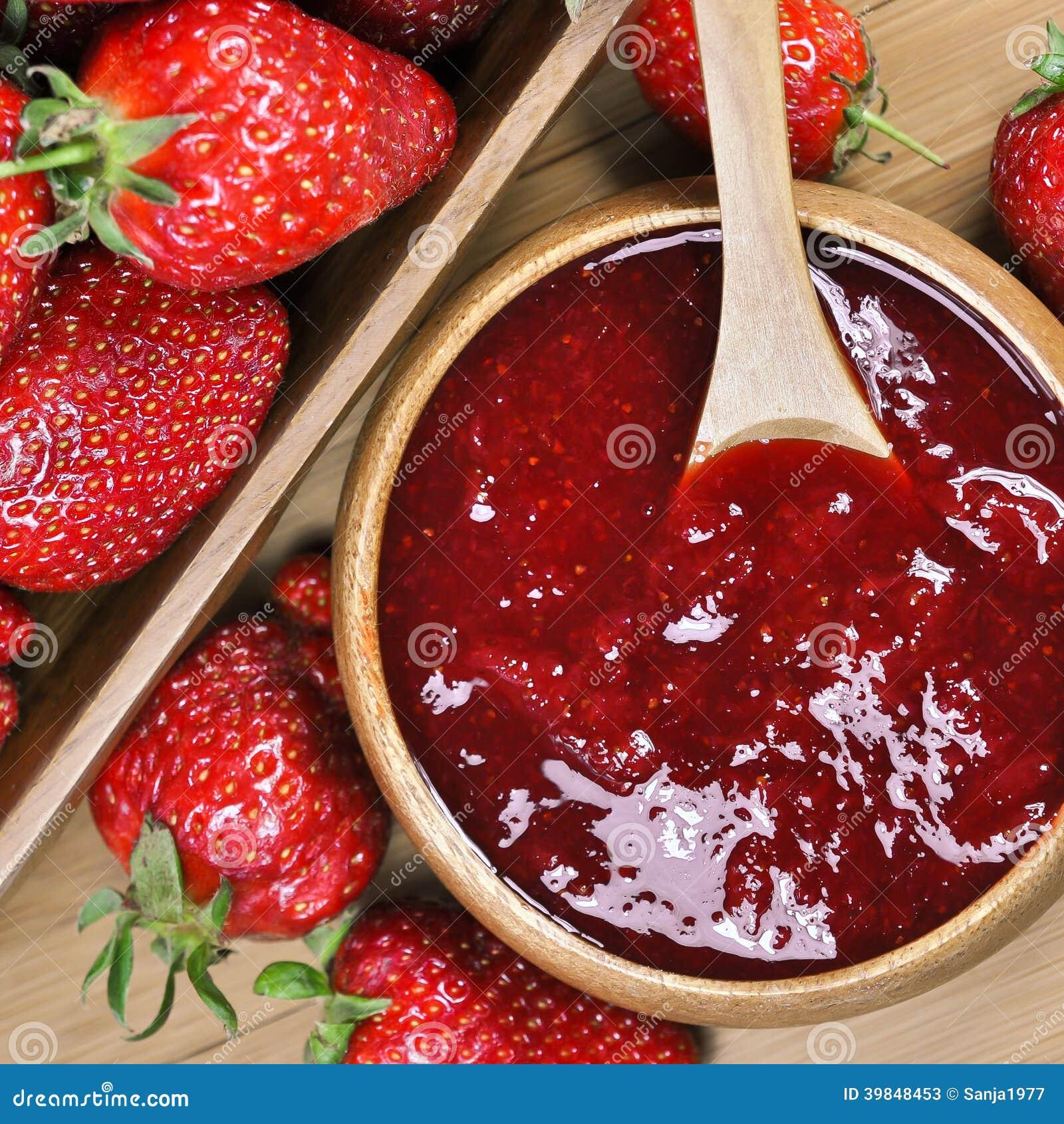 Download Erdbeerstau Oder -marmelade Stockbild - Bild von feinschmecker, kochen: 39848453