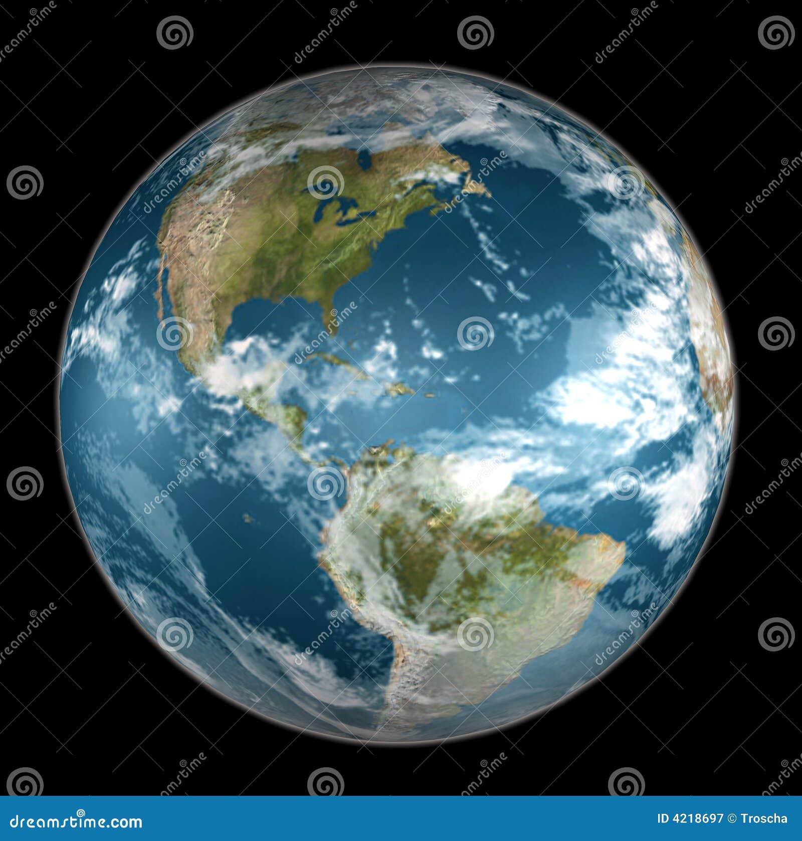 Erde auf Schwarzem