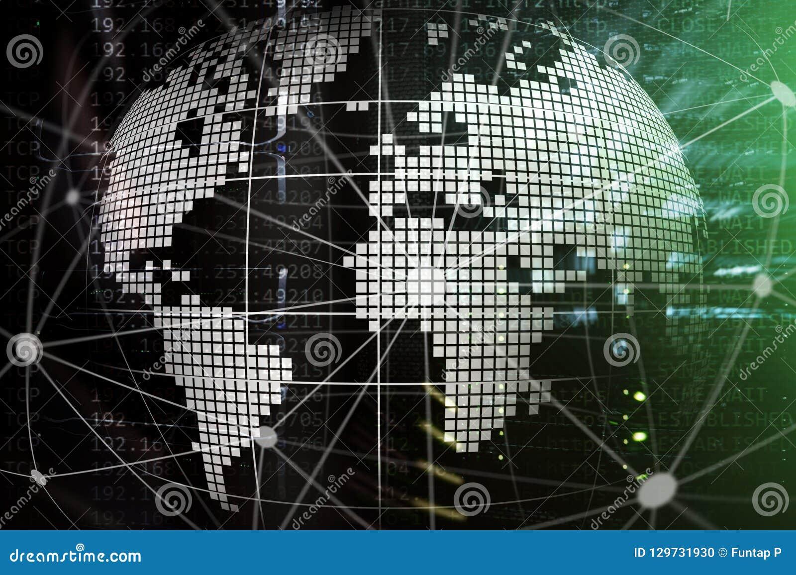 Erde 3D als Telekommunikation und Internet-Technologiekonzept