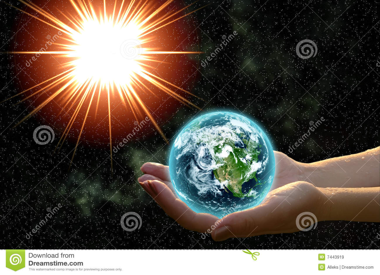 Erde in den Frauenhänden