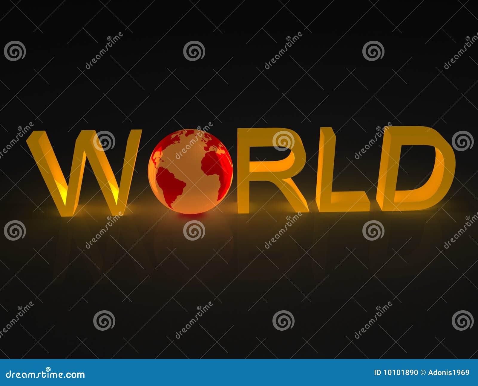 Erde in der Wort Welt