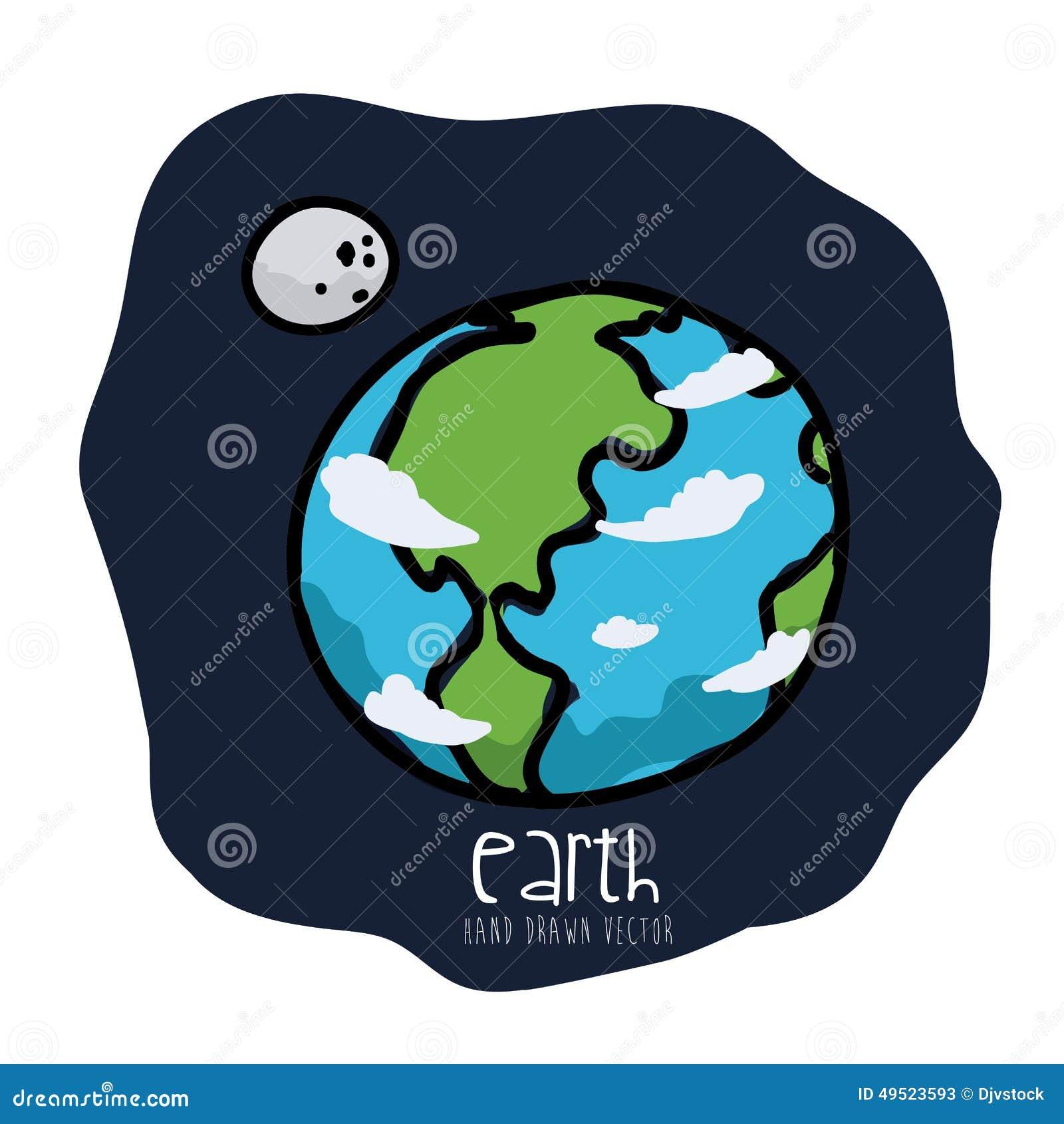 Erde Karte Rund.Erde Gezeichnet Vektor Abbildung Illustration Von Karte 49523593