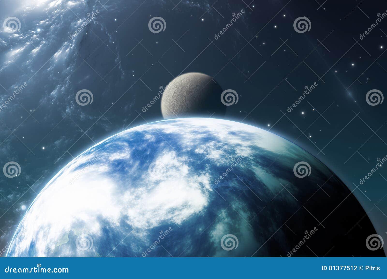 Erde mag Planeten oder Extrasolar Planeten mit Mond