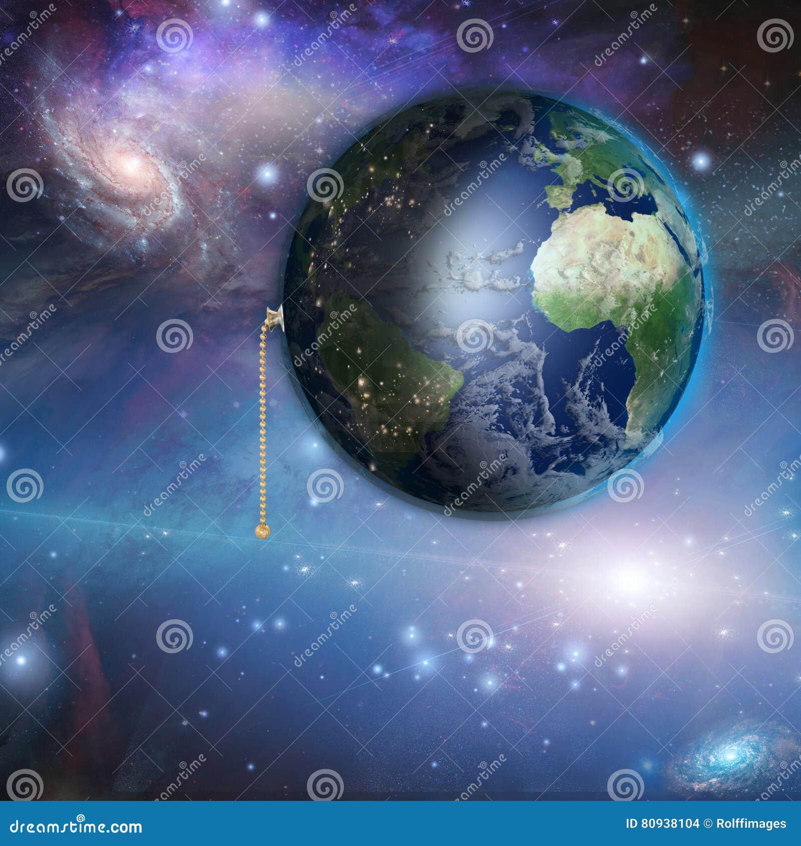 Erde Mit Nacht Und Tageszug Schalter Stock Abbildung Illustration