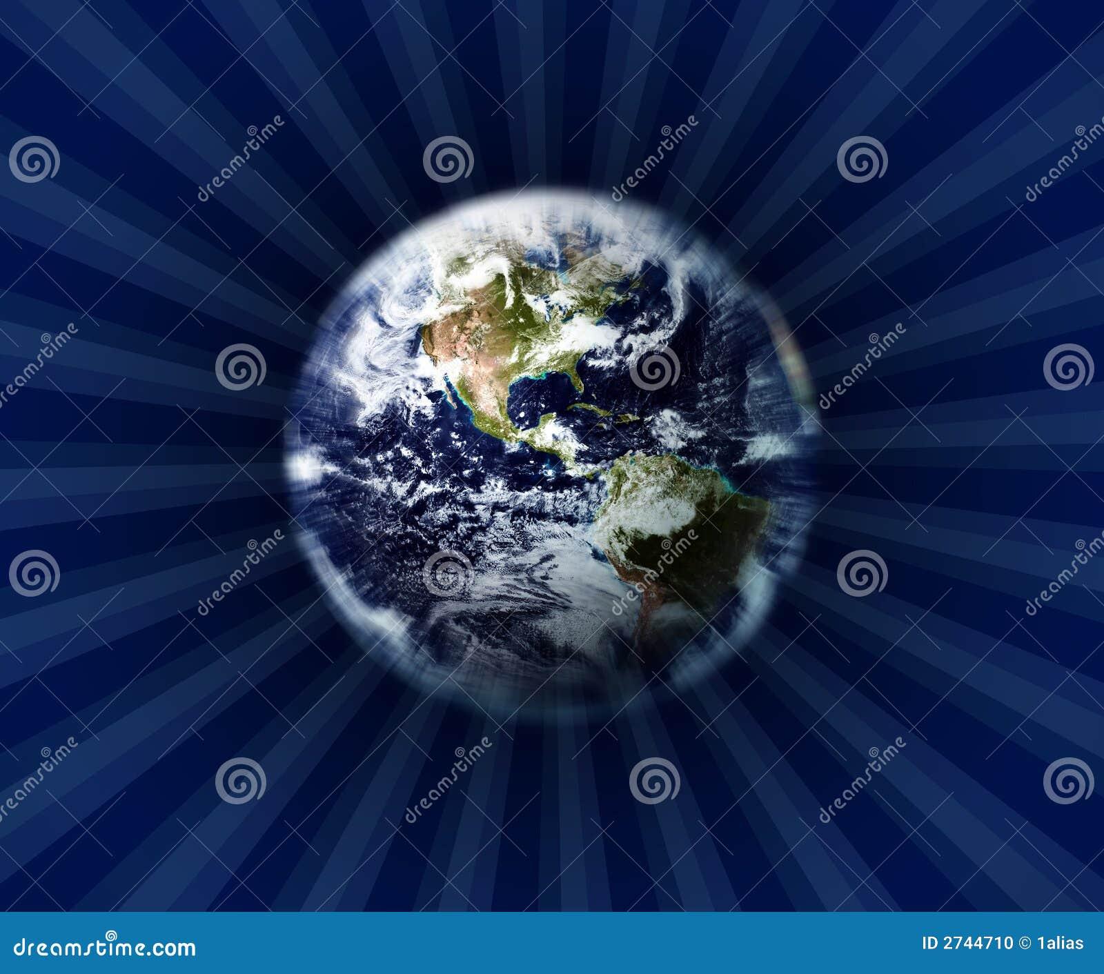 Erde und Weltraum stock abbildung. Illustration von leer - 2744710