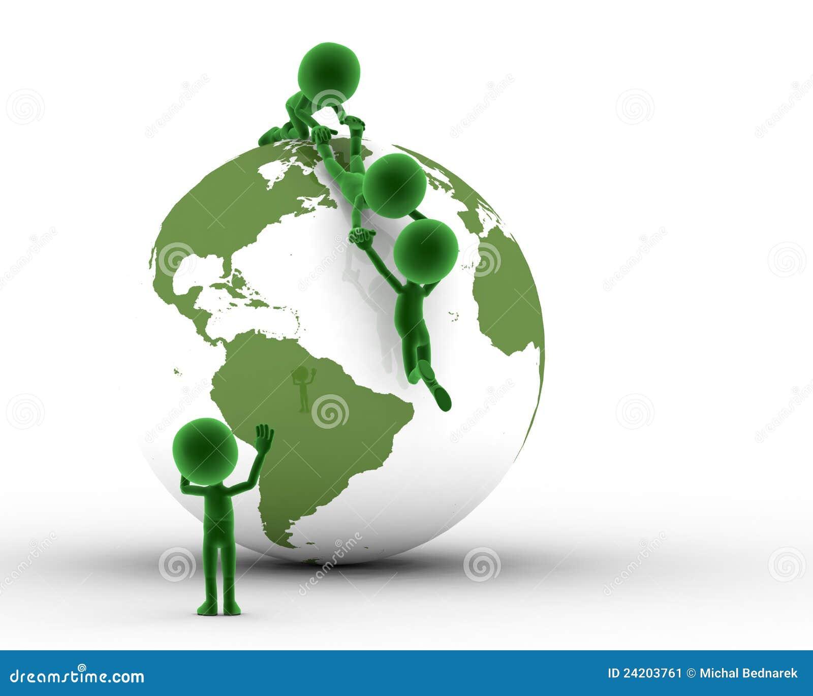 Erdekugel, Leutesupport