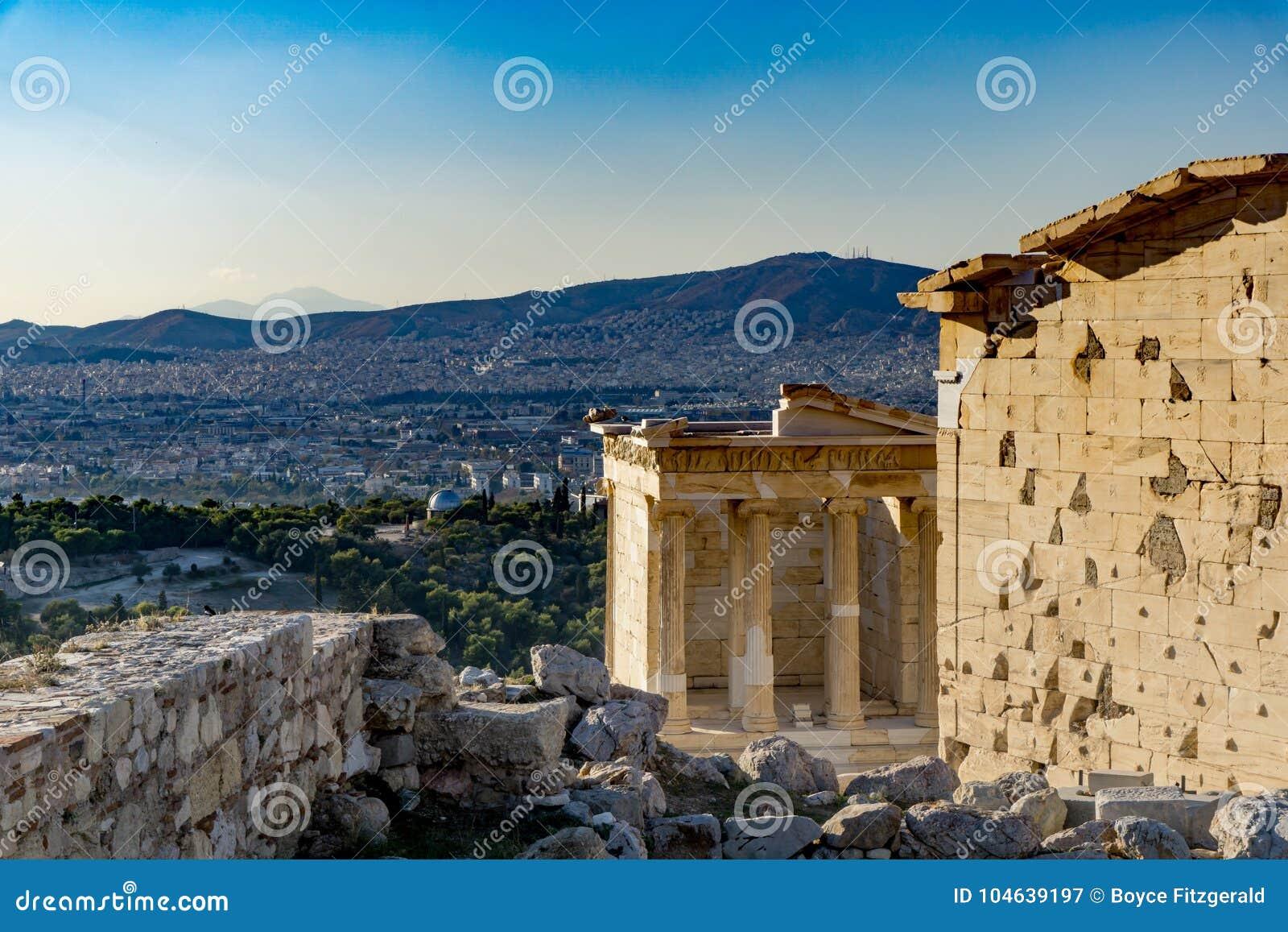 Download Erechtheion Of Erechtheum Zijn Een Oude Griekse Tempel Op De Akropolis Van Athene In Griekenland Stock Afbeelding - Afbeelding bestaande uit parthenon, monument: 104639197