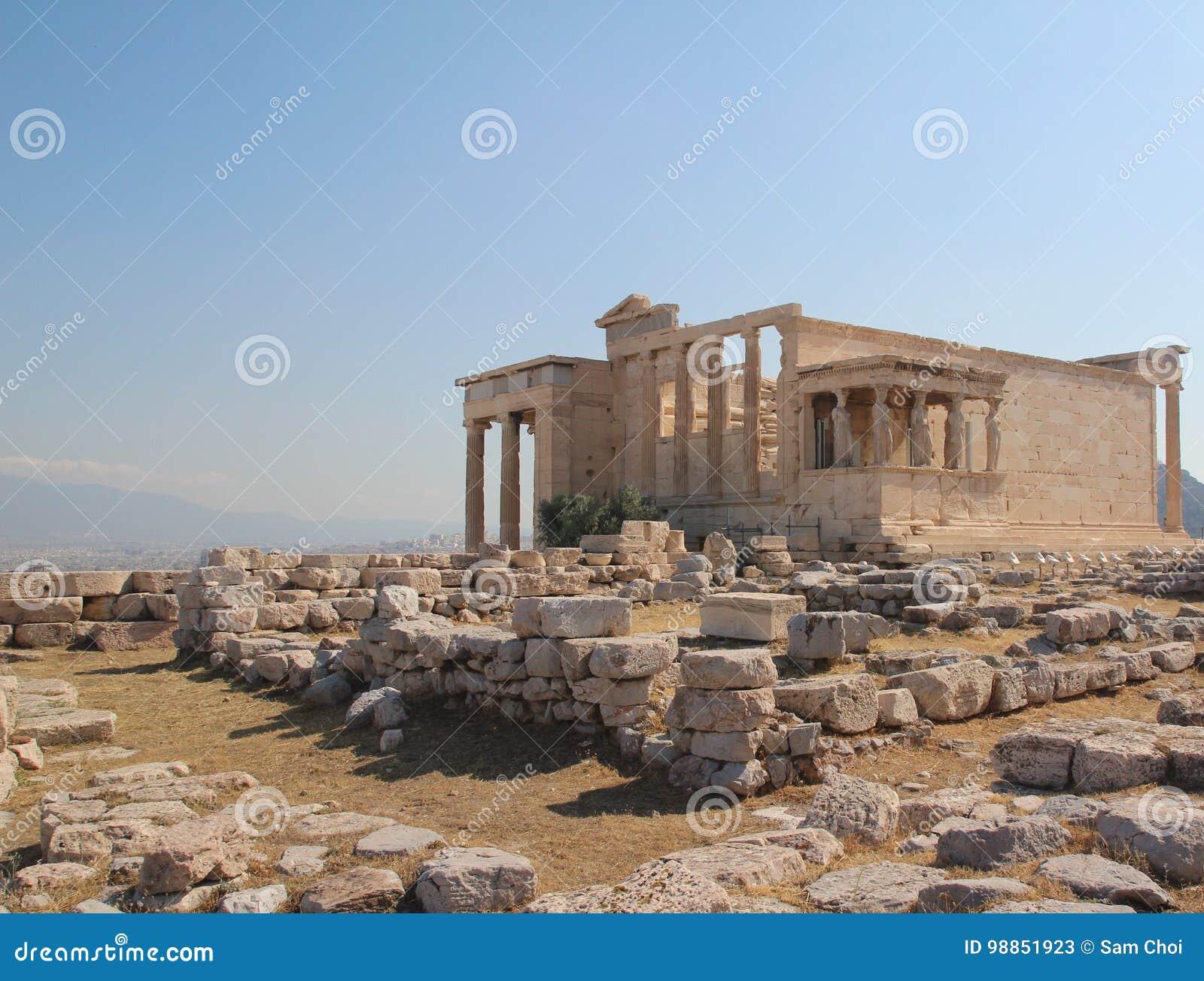Erechtheion, Parthenon, świątynia Athena, Grecja, Ateny