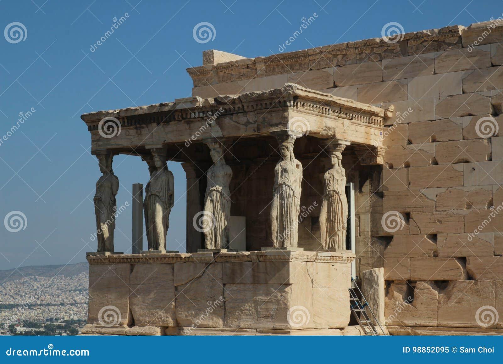 Erechtheion, Parthenon, Tempel van Athena, Griekenland, Athene
