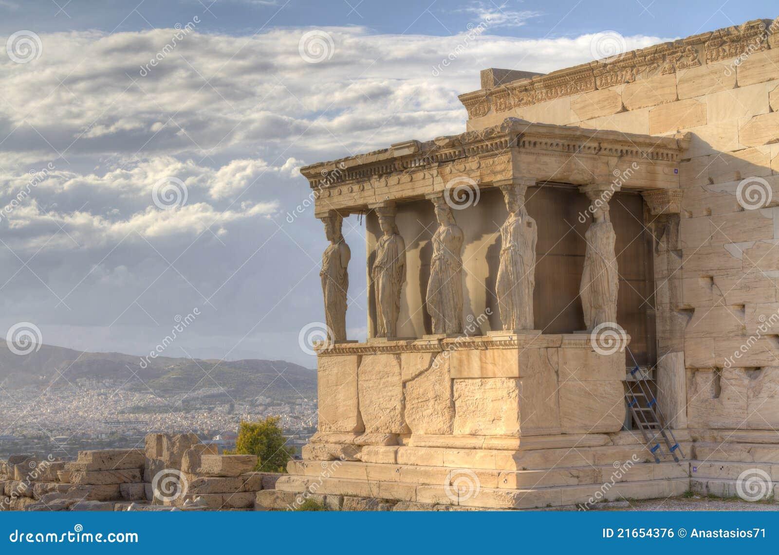 Erechtheum Греция caryatids athens акрополя