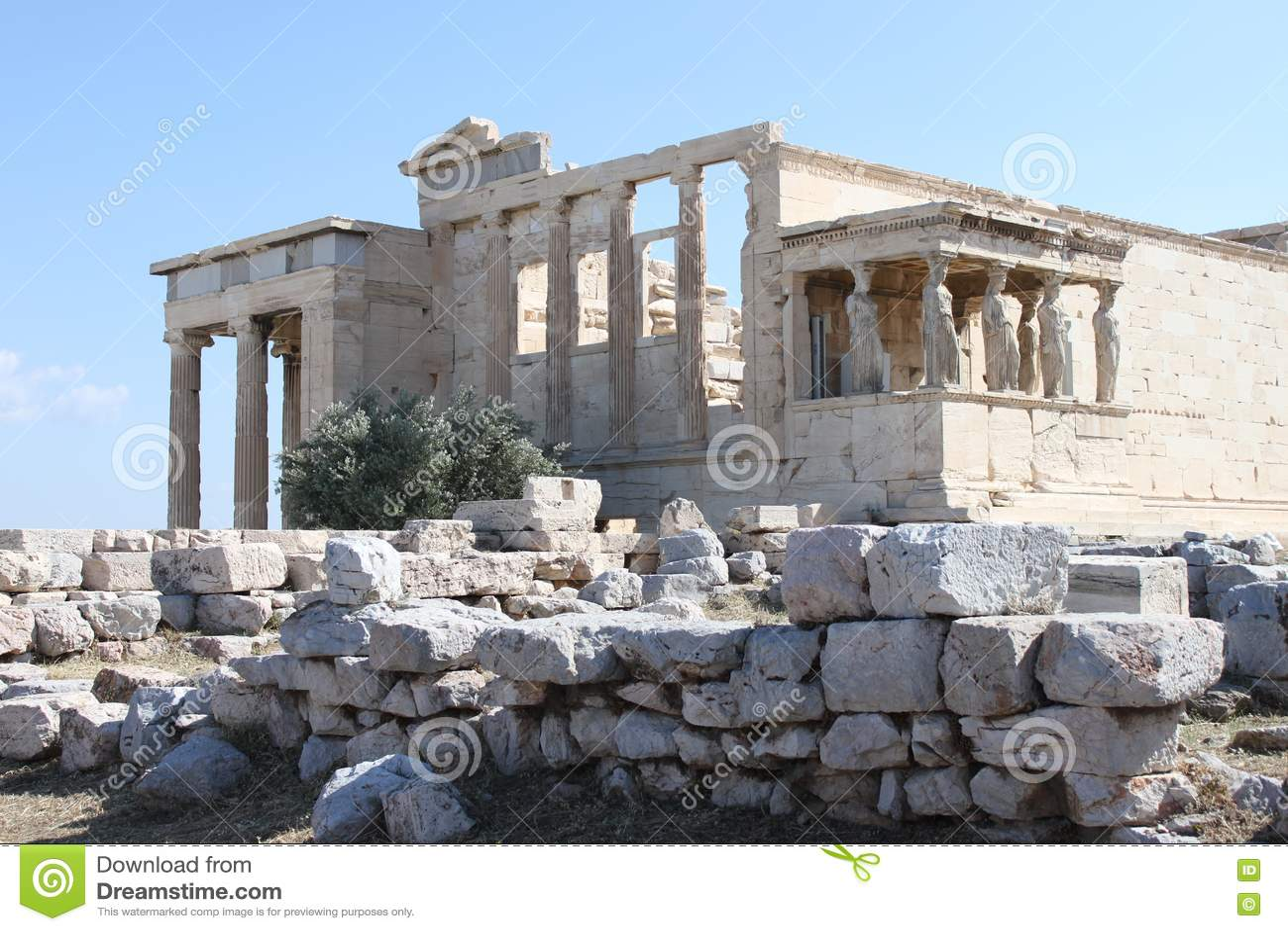Erechtion dans l Acropole - Athènes - Grèce