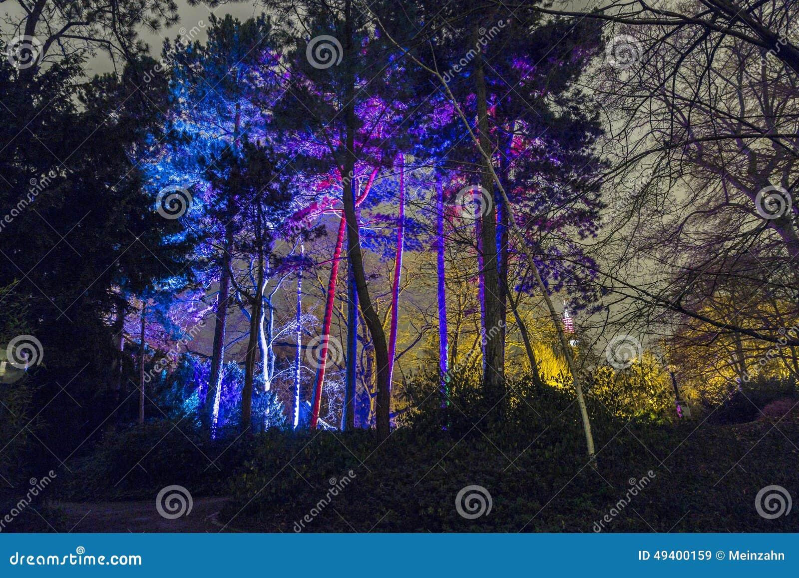 Download Ereignis Winterlichter Im Palmgarden Redaktionelles Stockbild - Bild von gebäude, frankfurt: 49400159