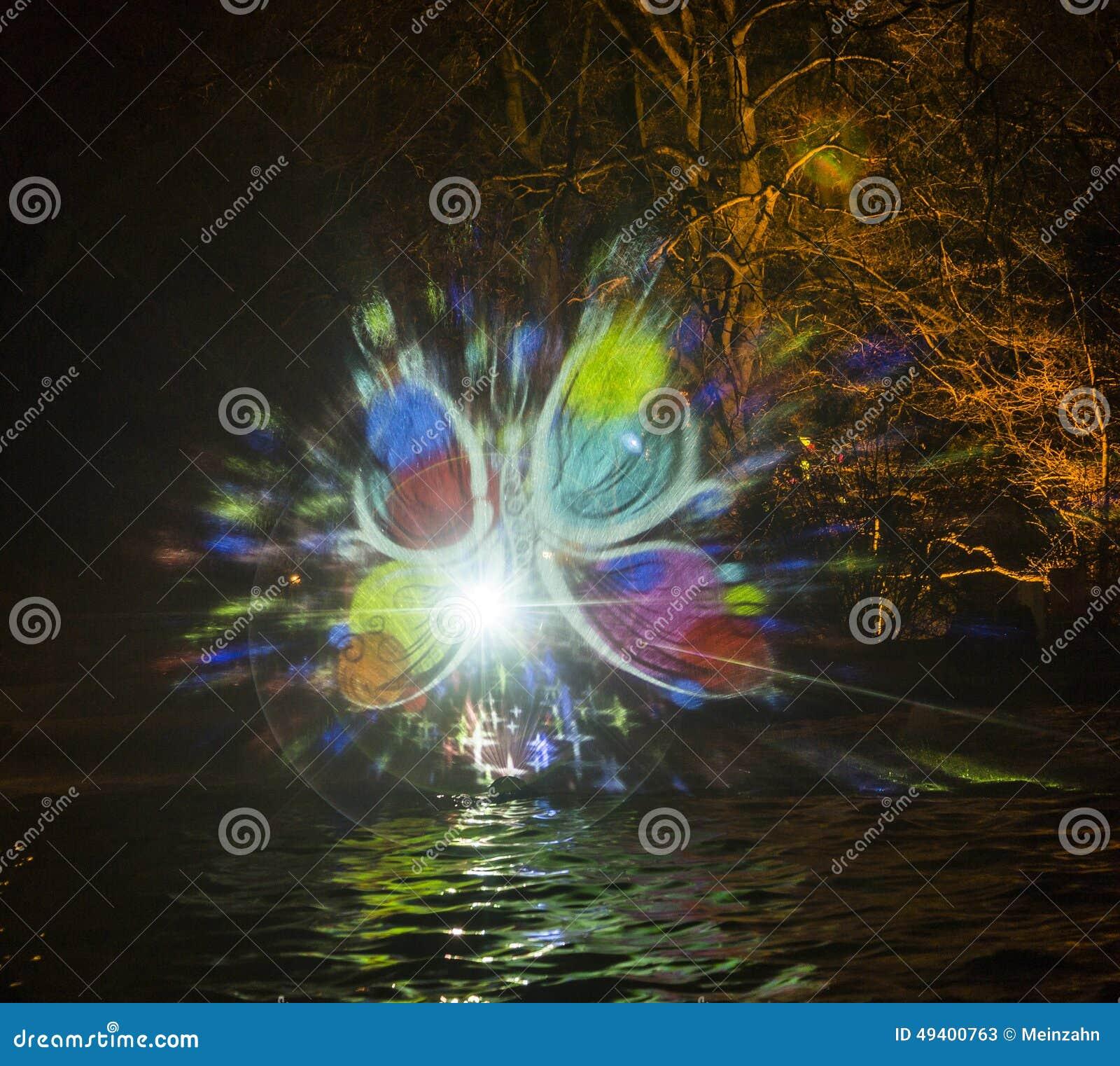 Download Ereignis Winterlichter Im Palmgarden Redaktionelles Stockfoto - Bild von fall, garten: 49400763