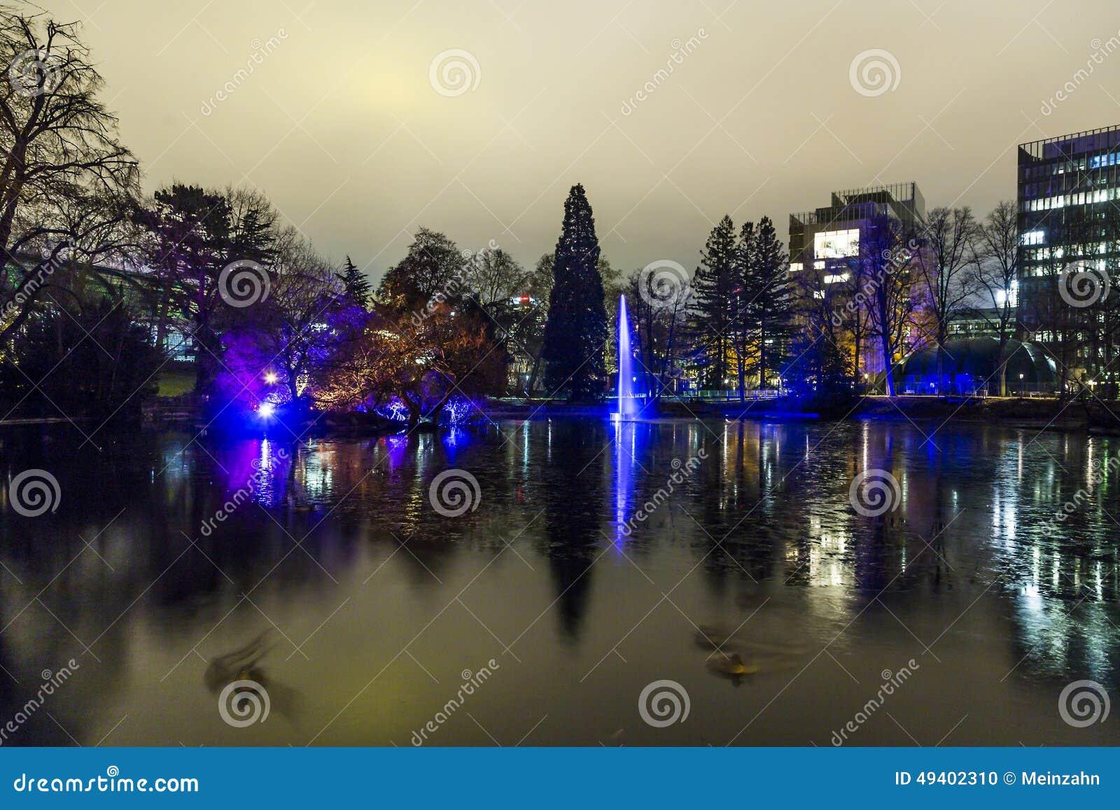 Download Ereignis Winterlichter Im Palmgarden Redaktionelles Bild - Bild von leuchte, deutschland: 49402310