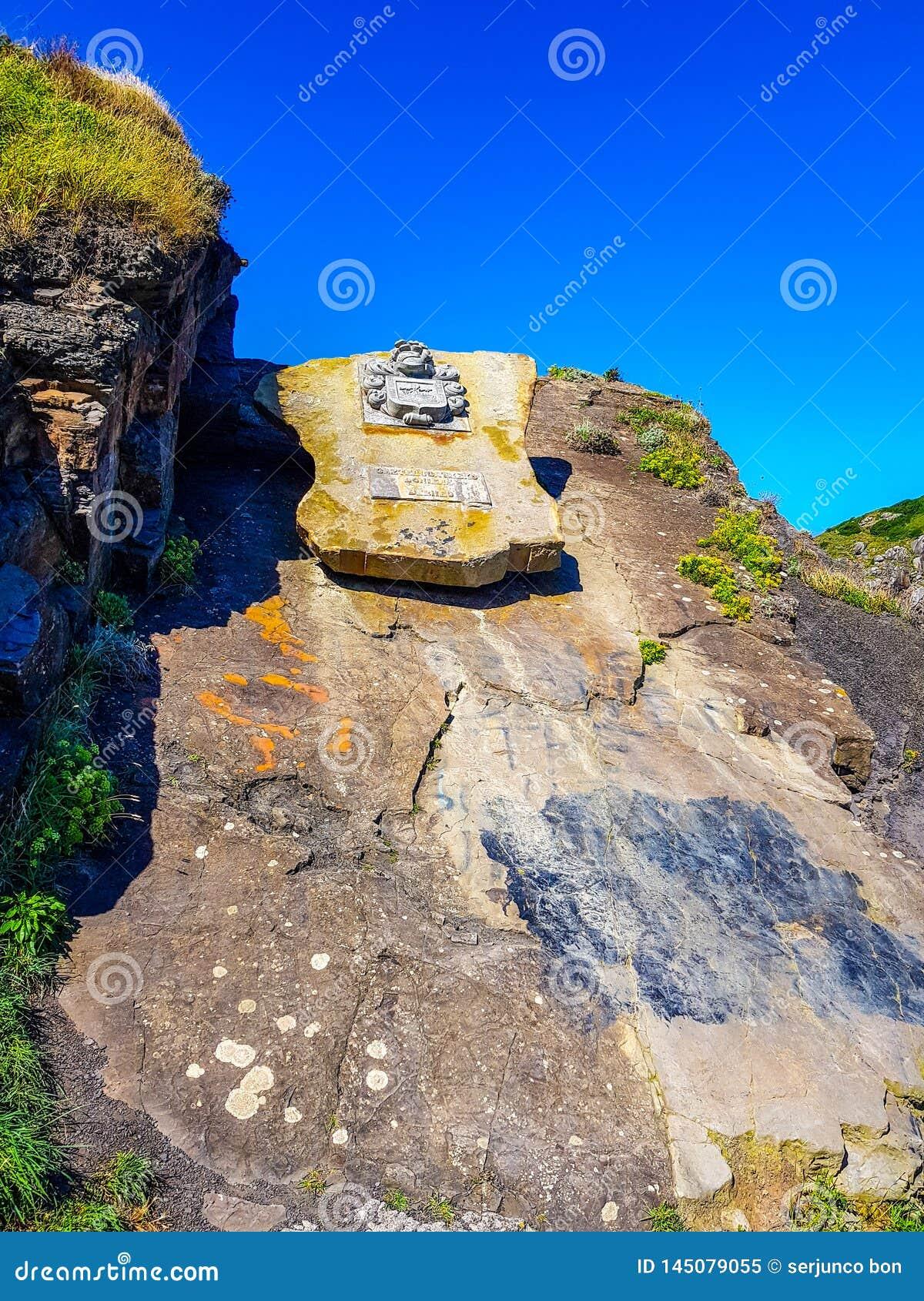 Eremo di San Juan de Gaztelugatxe alla cima dell isola di Gaztelugatxe Vizcaya, Paese Basco & x28; La Spagna