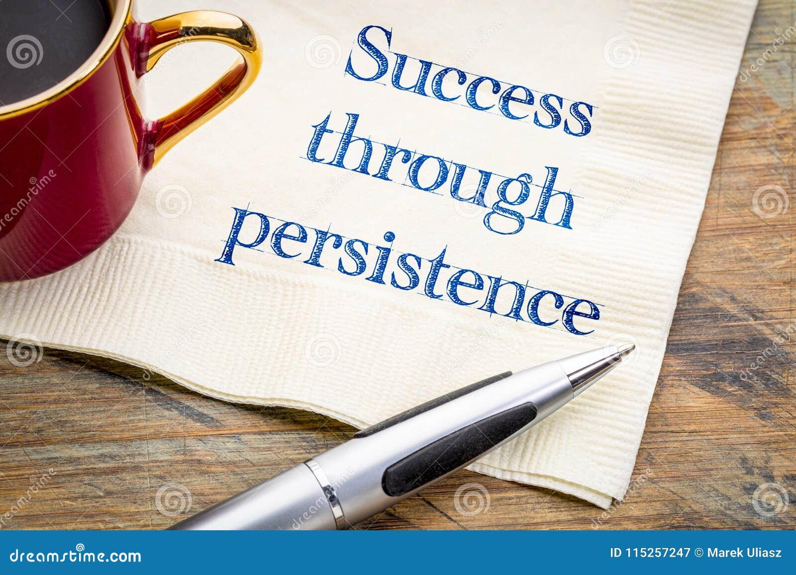Erfolg durch Ausdauer