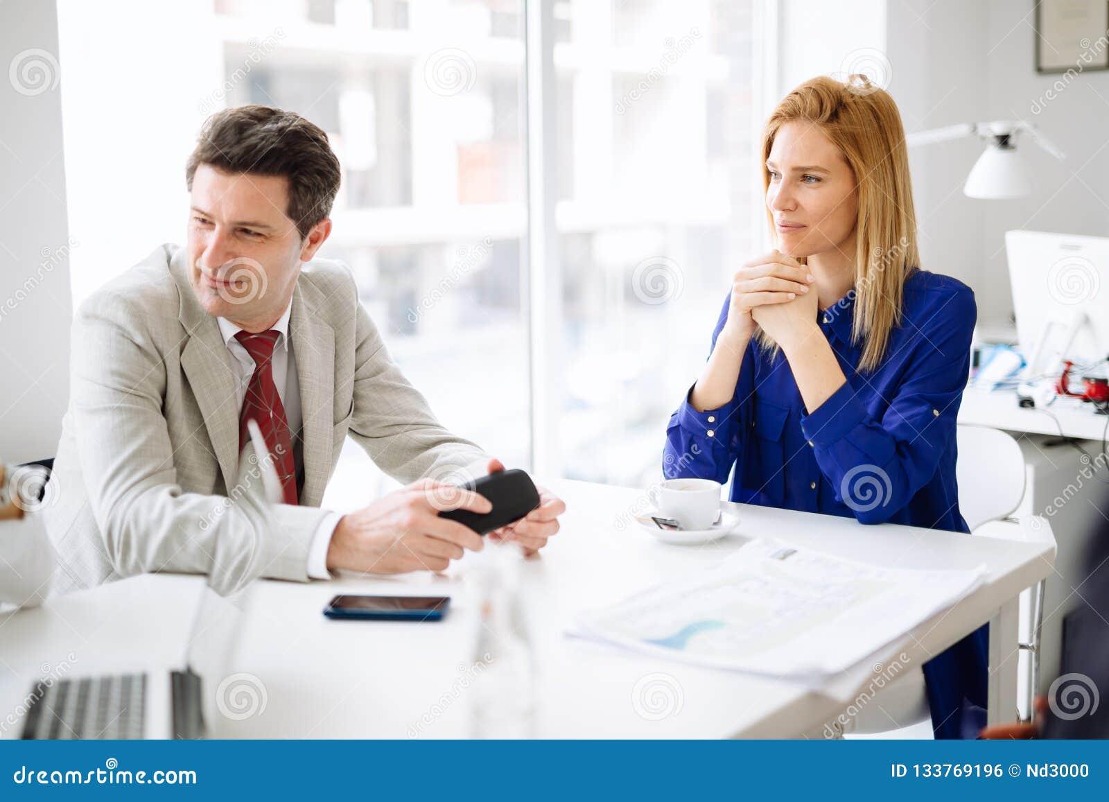 Erfolgreicher Geschäftsfrau CEO der Firma