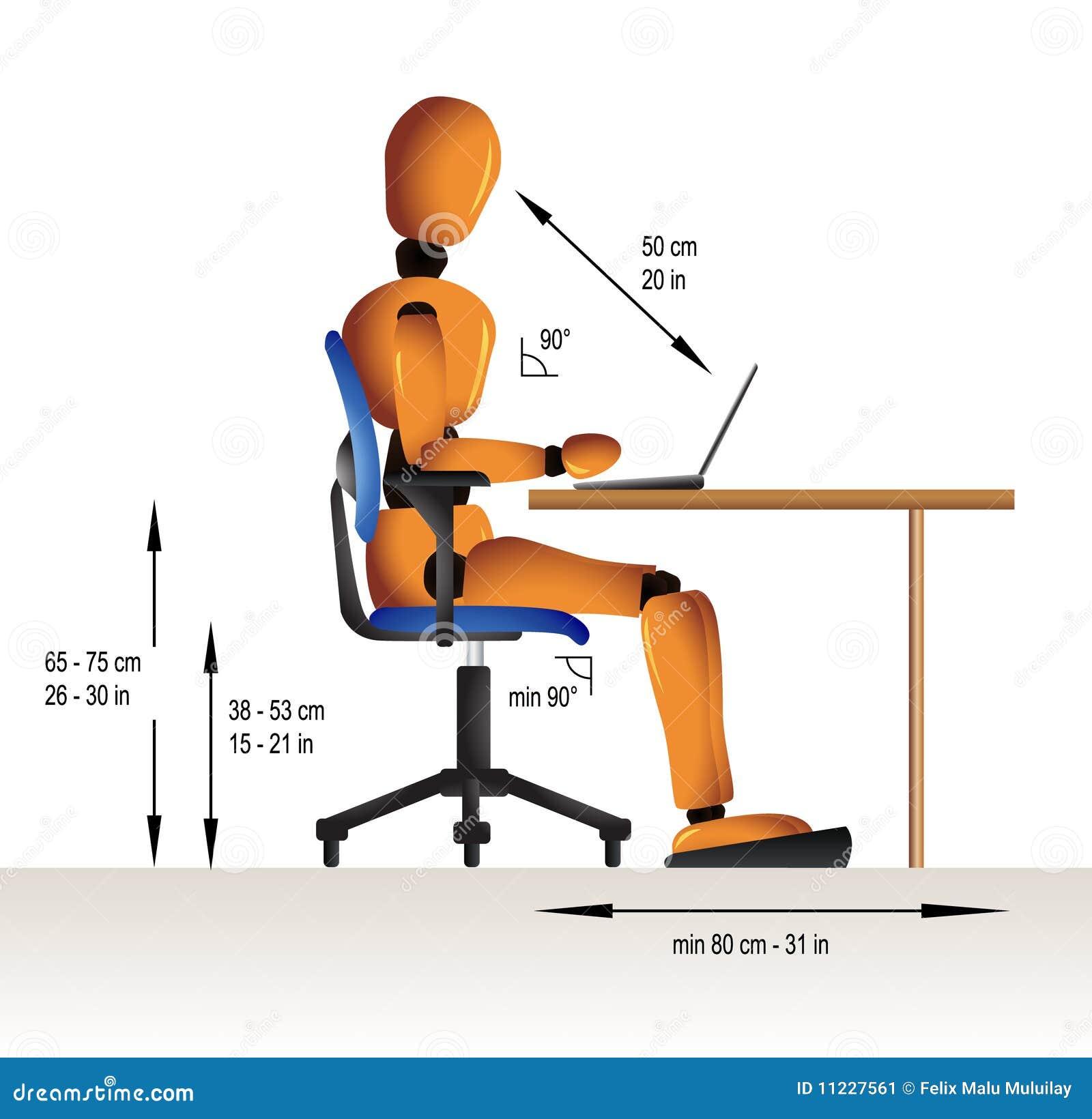 Ergonomic Sitting Stock Vector Image Of Back Health