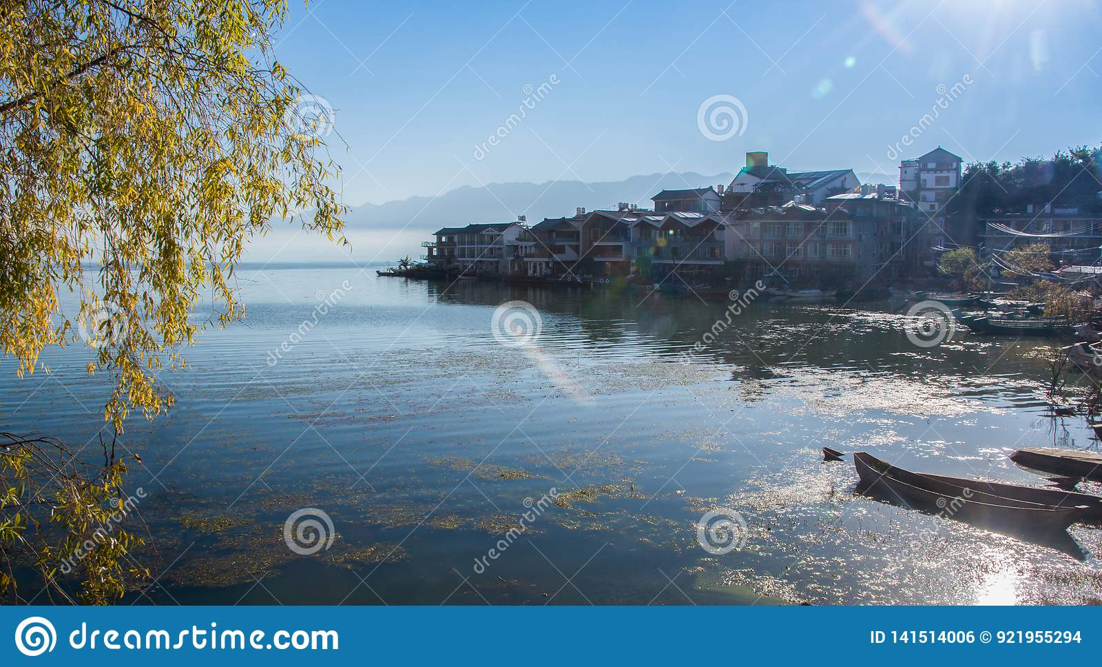 Erhai湖沿海风景