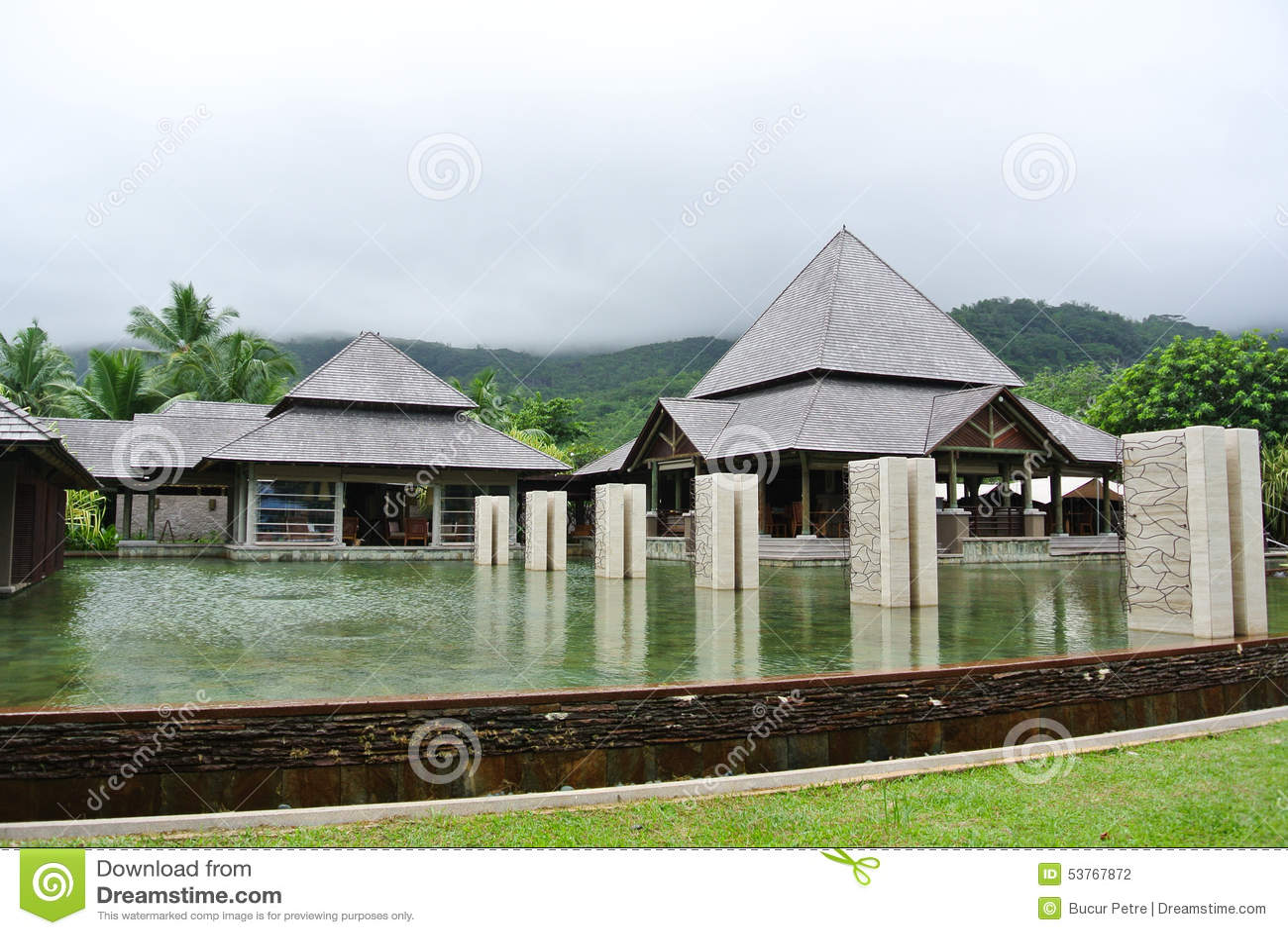 Erholungsort in Seychellen-Inseln