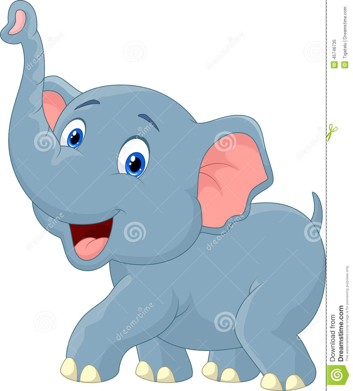 Eric un animal de toon illustration de vecteur - Elephant en dessin ...