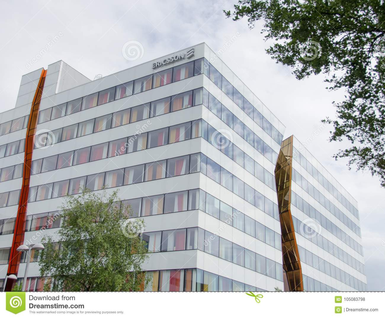 Ericsson Office Building In Kista Editorial Stock Photo - Image of