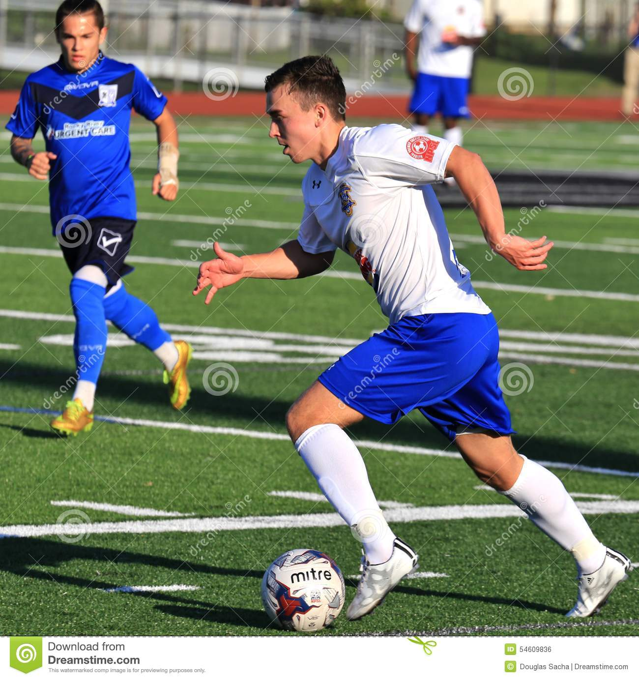 Erie Commodores FC game action
