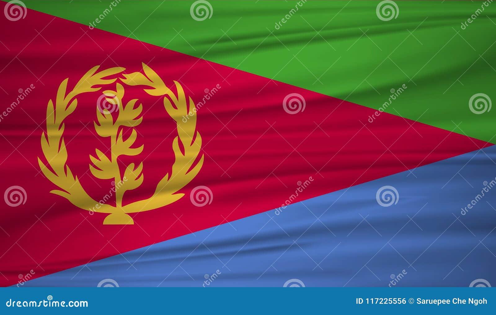 Download Eritrea Flag Vector. Vector Flag Of Eritrea Blowig In The Wind. Stock Vector - Illustration of ...