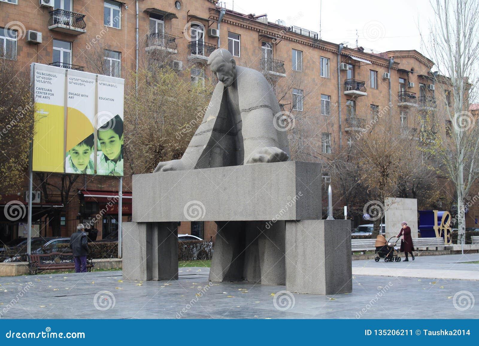 Eriwan Armenien 4 Dezember 2018 Ansicht Uber Kaskadentreppe Und Tamanyan Park Redaktionelles Foto Bild Von Uber Armenien 135206211